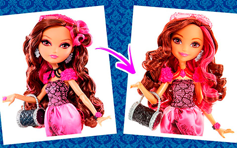 Old and new Ever After High First Chapter dolls