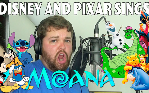 Disney and Pixar сharacters sing songs from