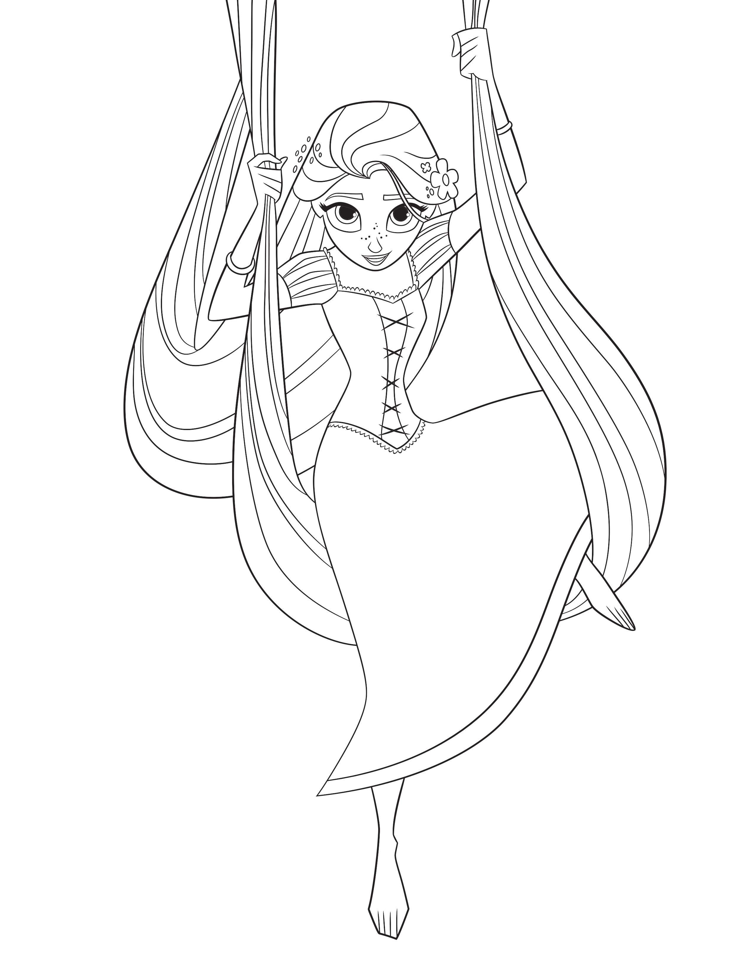 tangled the series rapunzel coloring page