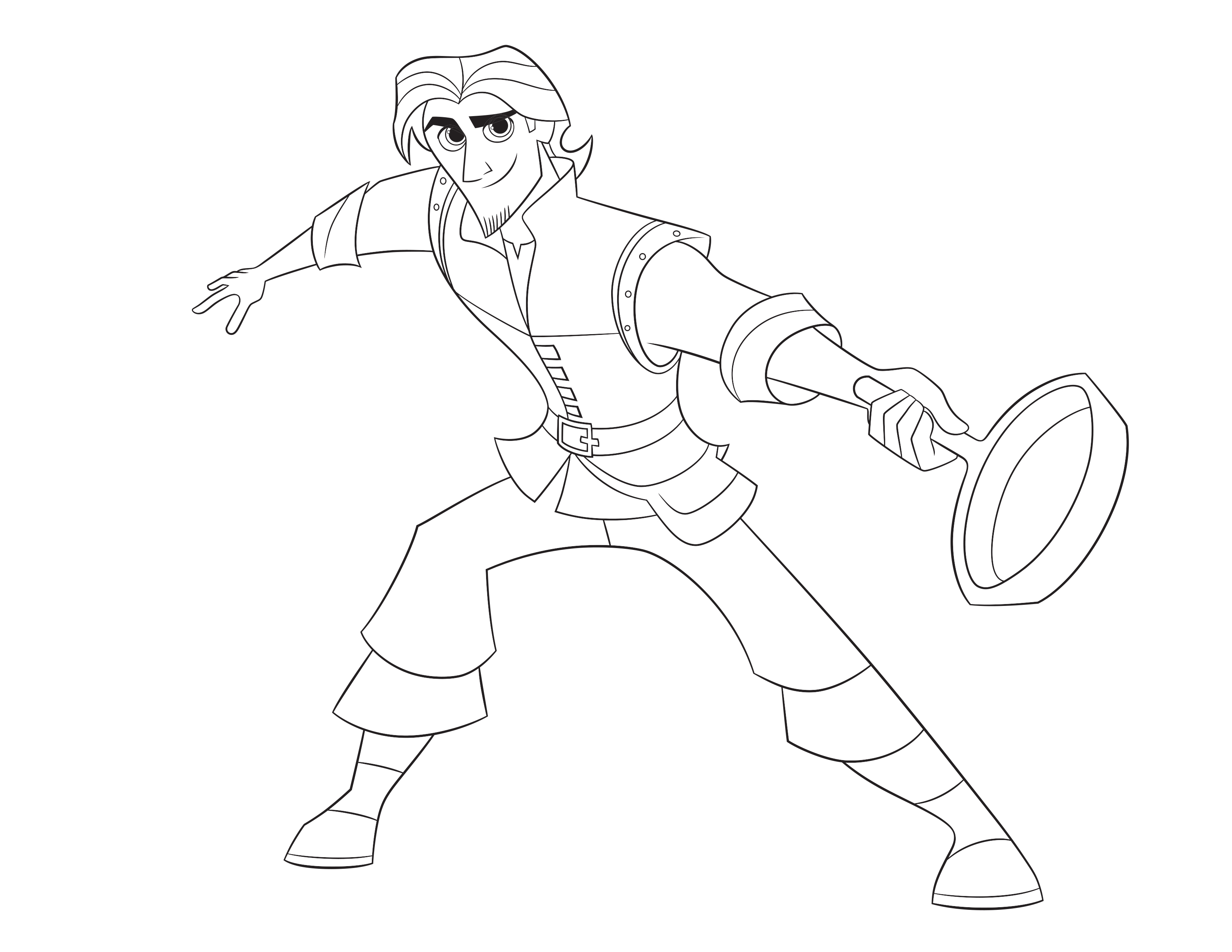 Coloring pages tangled - Tangled The Series Eugene Fitzherbert Coloring Page