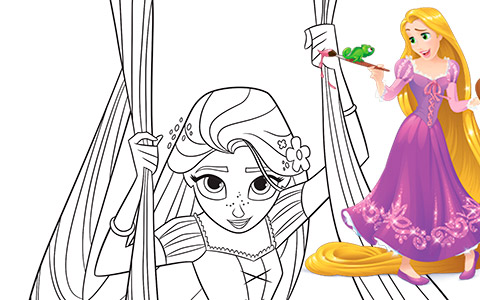 Tangled The Series: Coloring pages