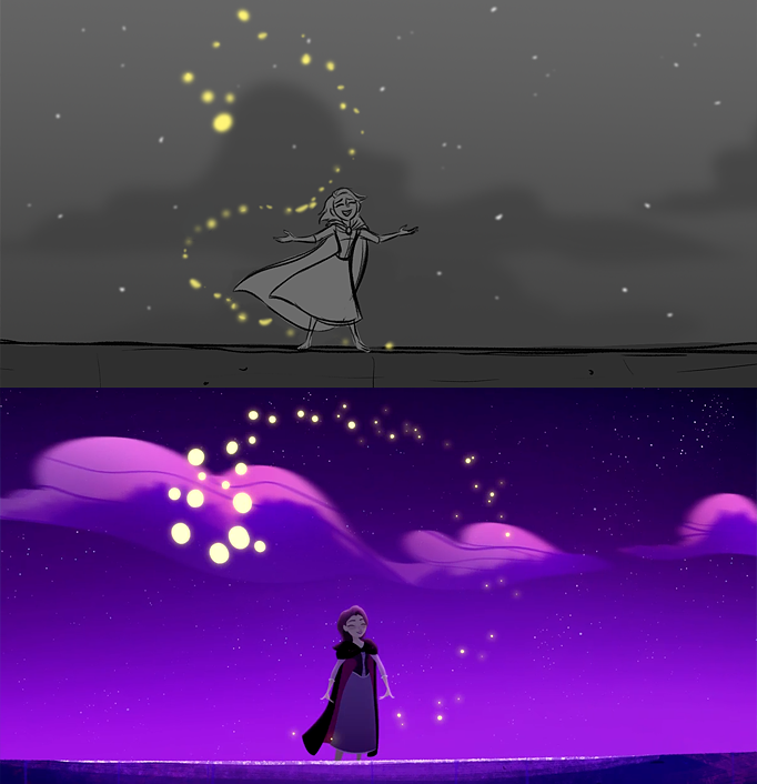 Tangled The Series: Storyboard and final result