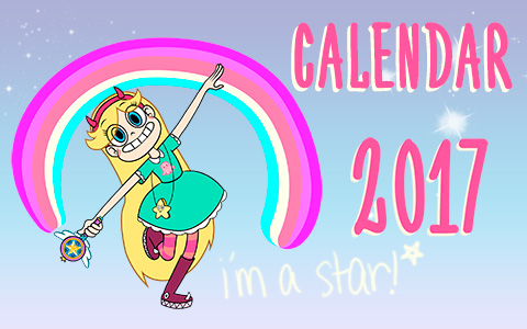 Star vs. the Forces of Evil calendars 2017