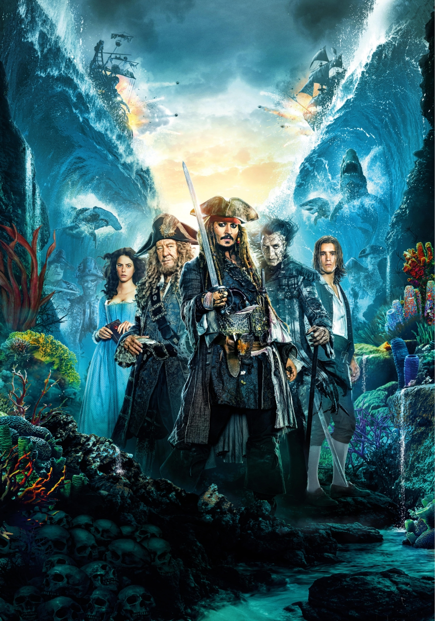 First movie poster Pirates of the Caribbean 5: Dead Men Tell no Tales