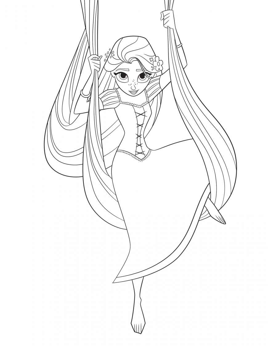 Tangled: The Series Rapunzel coloring page