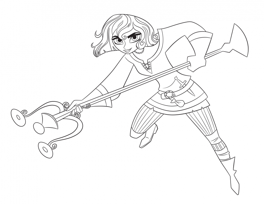 Tangled: The Series Cassandra coloring page