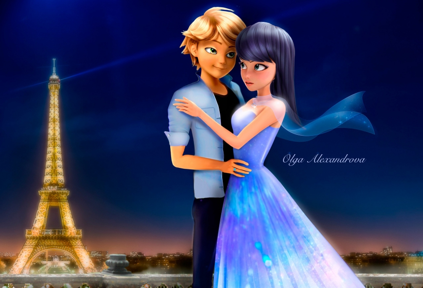 Marinette & Adrien romantic picture