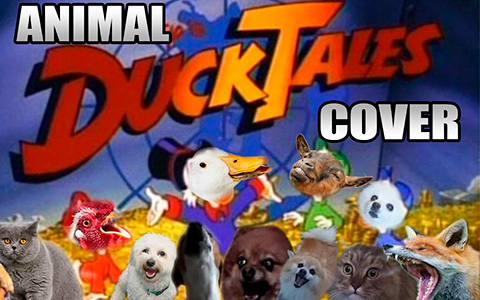 Animals sing DuckTales theme song's cover