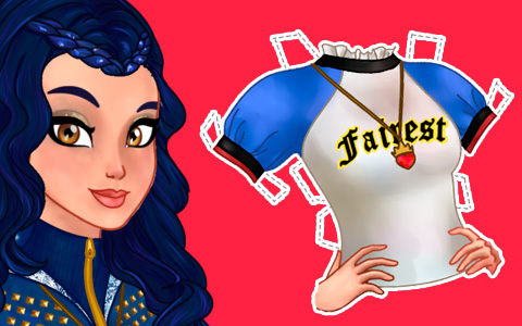 Disney Descendants Evie paper doll