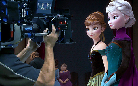 If Frozen cartoon was a movie