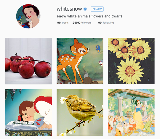 Snow White instagram