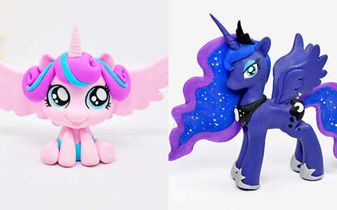 How to make My Little Pony princess from polymer clay