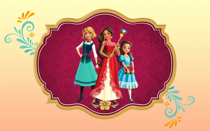 Elena of Avalor big wallpaper with princess Elena, isabel and Naomi