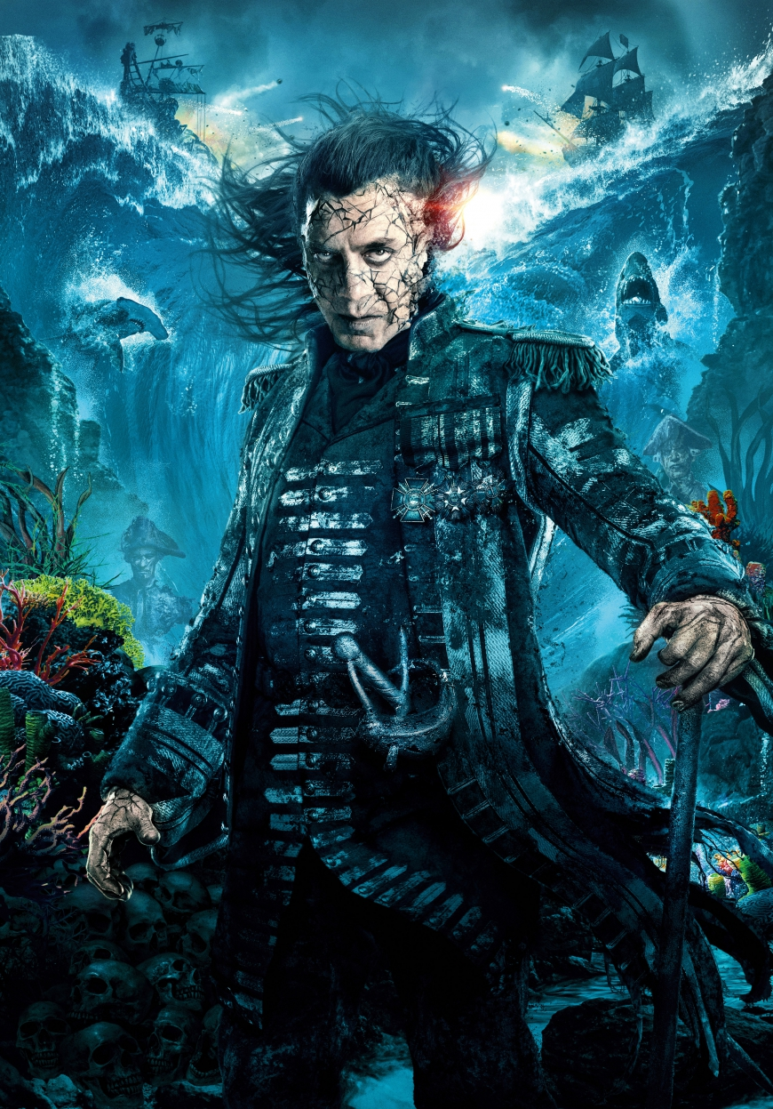 Pirates of the Caribbean 5 captain Armando Salazar poster