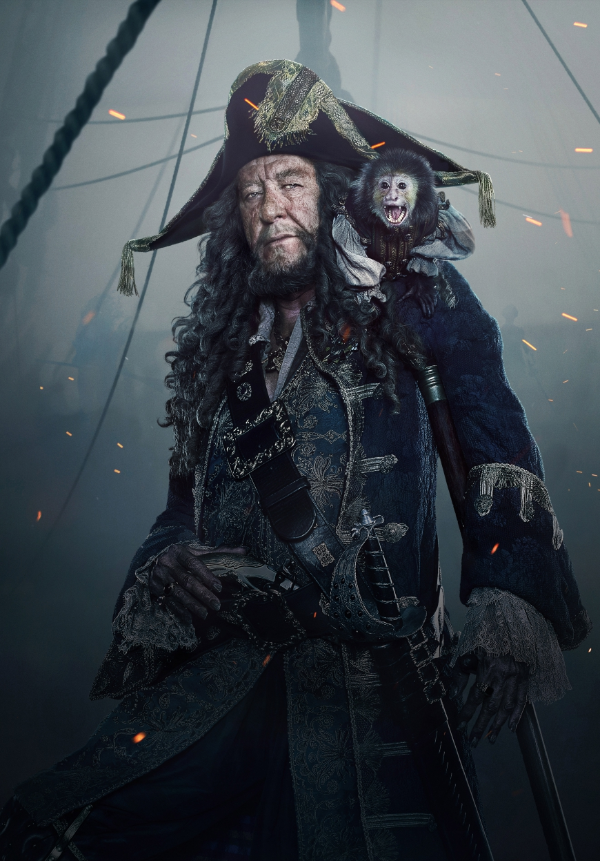 Pirates of the Caribbean 5 Hector Barbossa hi res textless poster