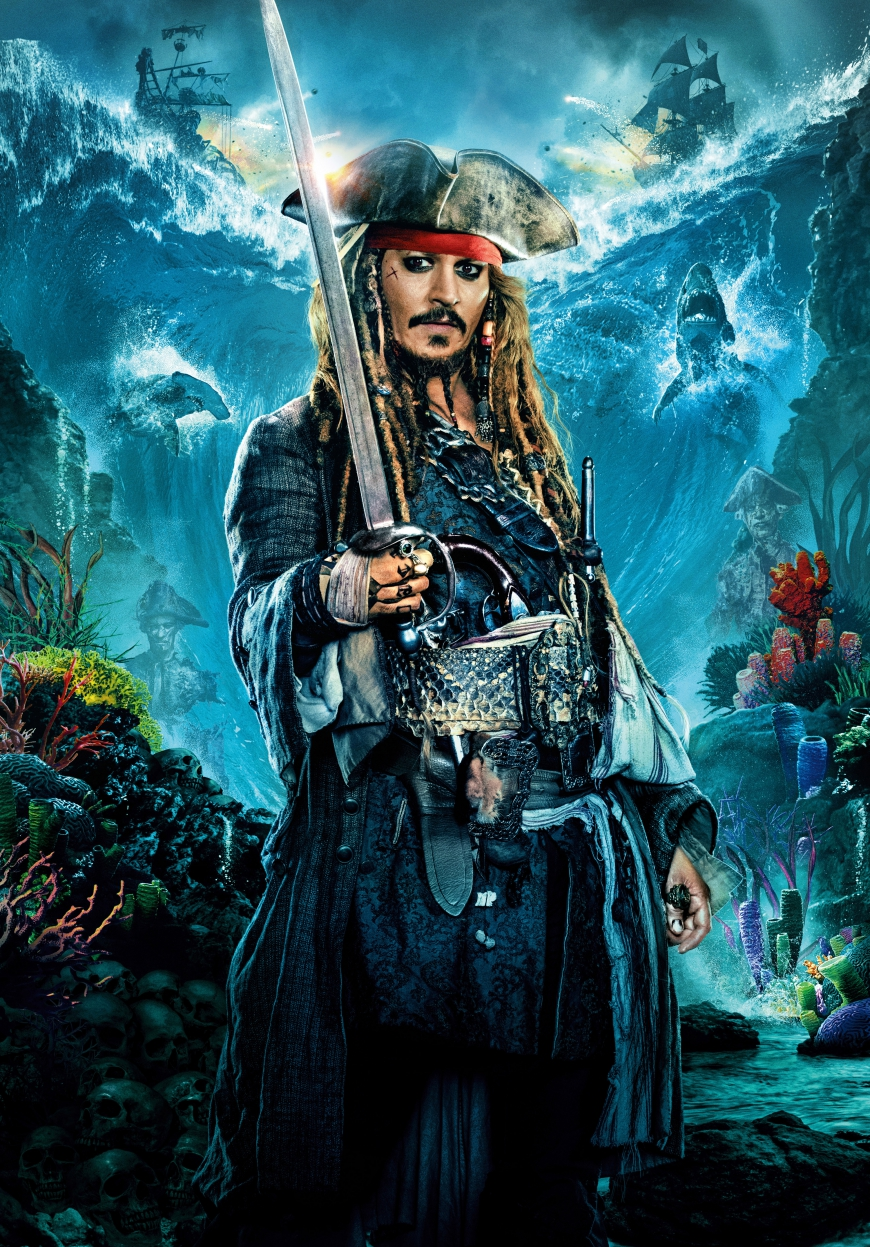 Pirates of the Caribbean 5 captain Jack Sparrow poster
