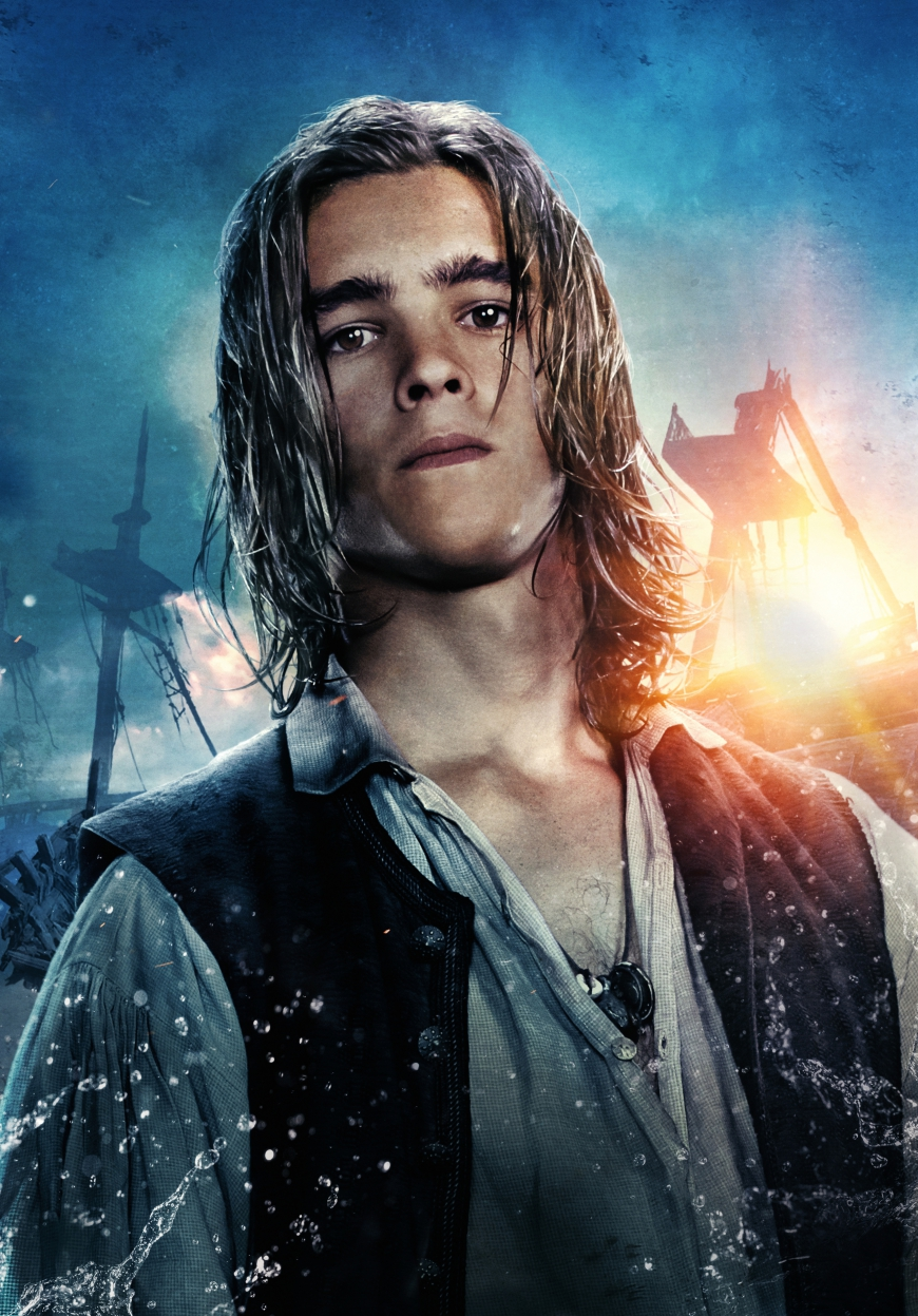 Pirates of the Caribbean 5 Henry Turner big poster