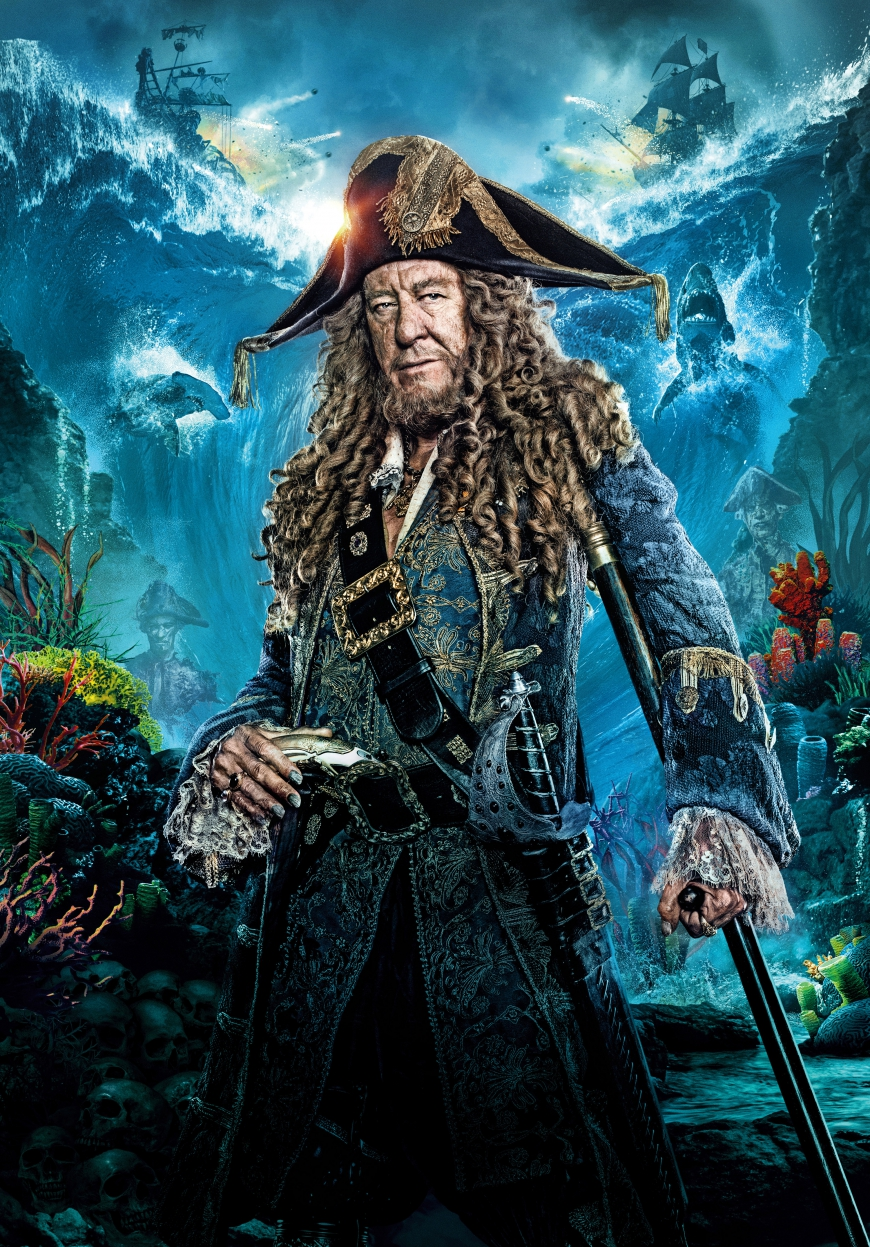 Pirates of the Caribbean 5 captain Hector Barbossa poster
