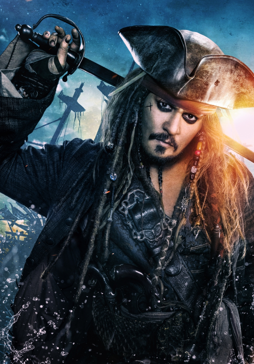 Pirates of the Caribbean 5 Jack Sparrow big poster
