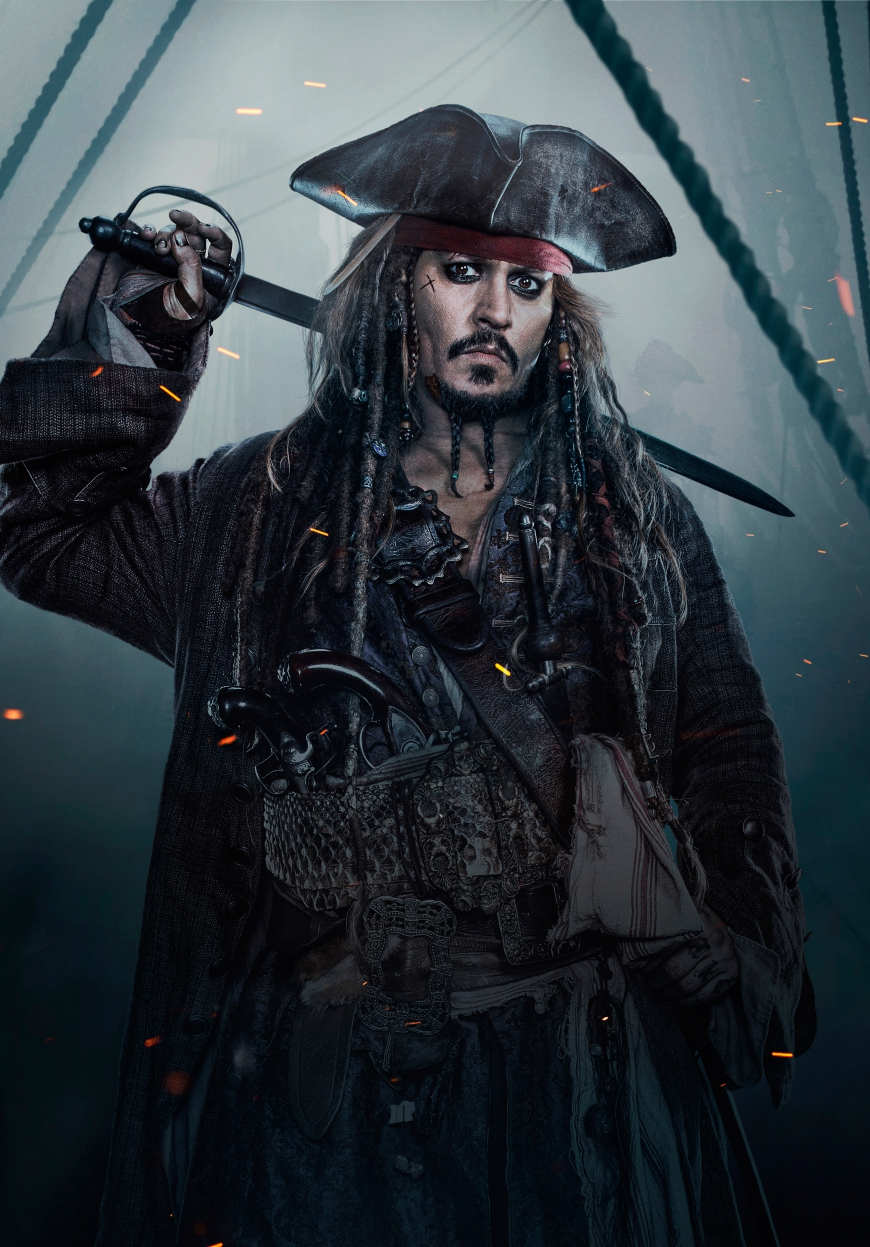 Pirates of the Caribbean 5 Jack Sparrow hi res textless poster