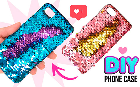 Amazing DIY: How to make Mermaid Sequin Phone Case