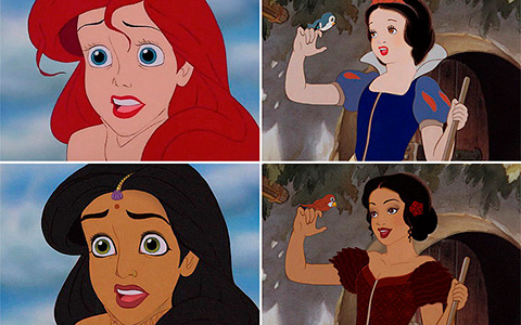If Disney Princesses were a different race