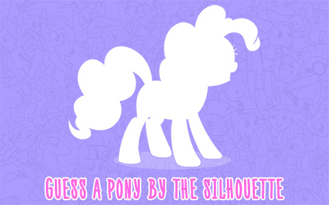 Guess my little pony by her silhouette