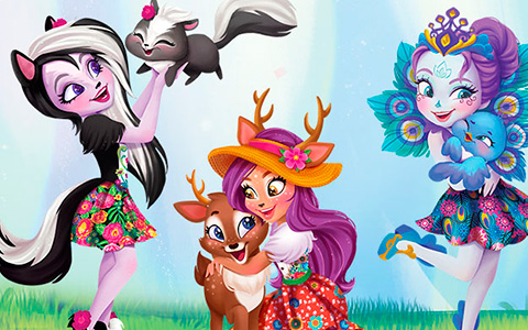 Meet the ENCHANTIMALS - girls with animal friends from fantastical world