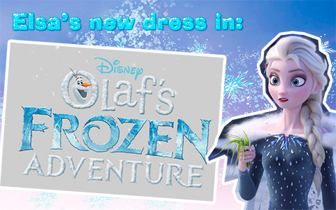 New fabulous Elsa's winter outfit from Olaf's Frozen Adventure