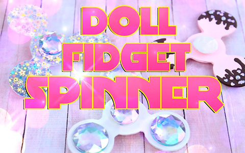 Doll crafts: How to make FIDGET SPINNER that really spins