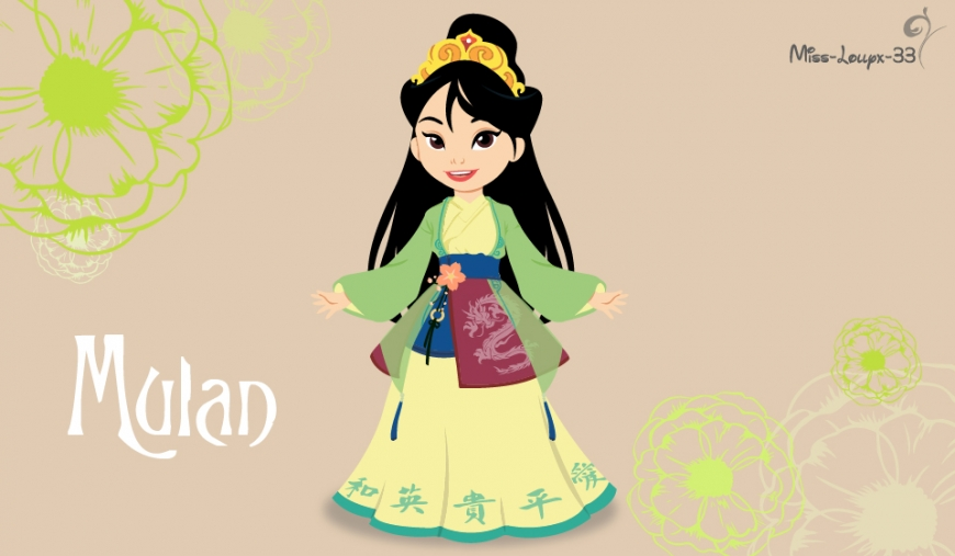 Disney heroines as cute young children