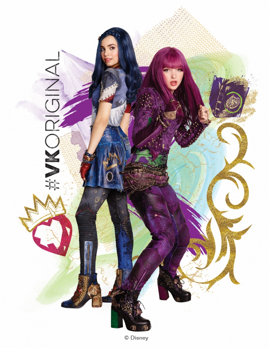 Disney Descendants 2 Mal and Evie hd high quality picture