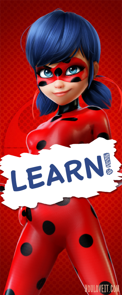 Miraculous LadyBug bookmark - Learn