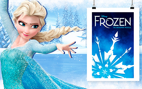 New poster for FROZEN the Musical premiere and 7 rejected
