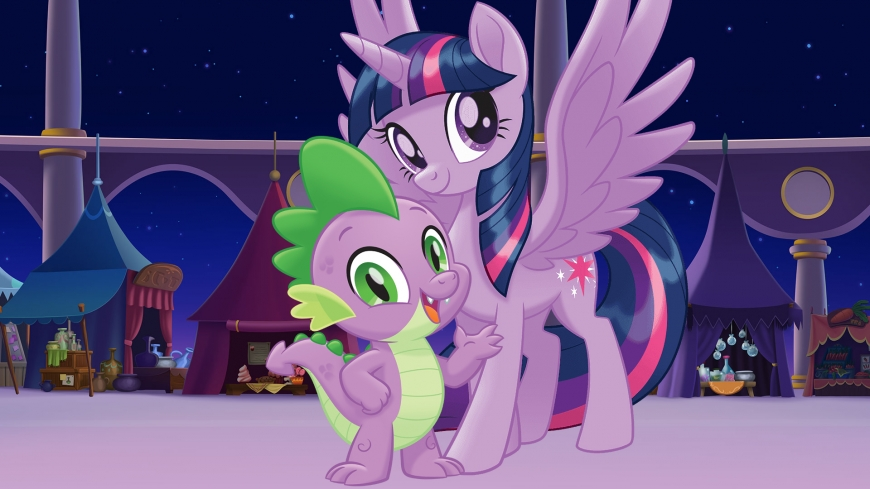 My Little Pony The Movie wallpaper Spike and Twilight