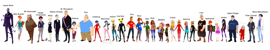 Miraculous Ladybug all main characters in one picture