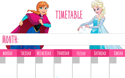 Disney Frozen Timetabels - Download and Print