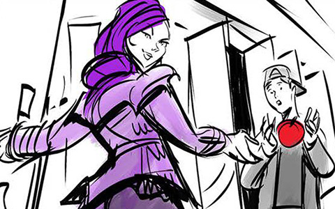 Disney Descendants 2: Ways To Be Wicked storyboard