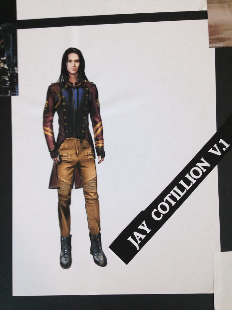 Disney Descendants 2 Jay cotillion look design