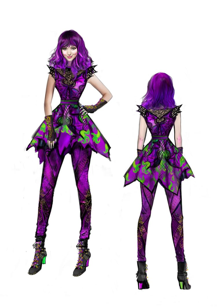 Disney Descendants 2 Mal Isle of the Lost look design