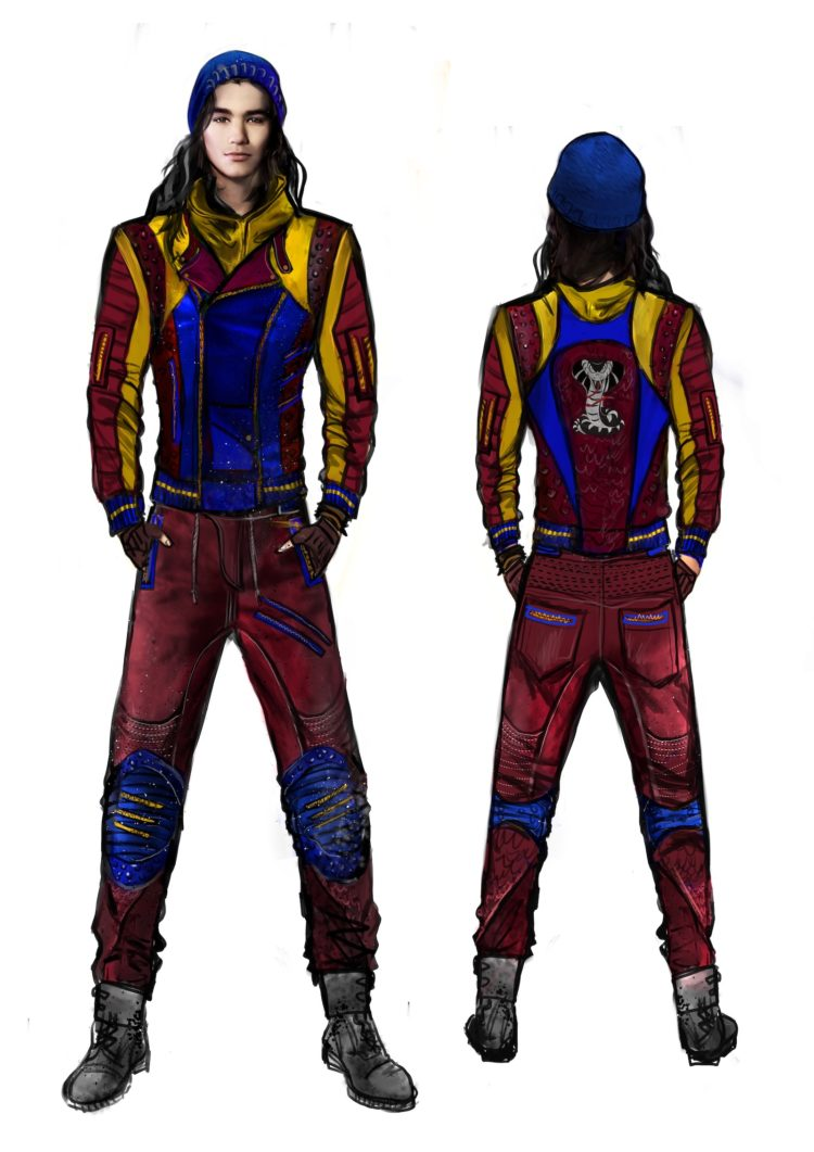 Disney Descendants 2 Jay Isle of the Lost look design