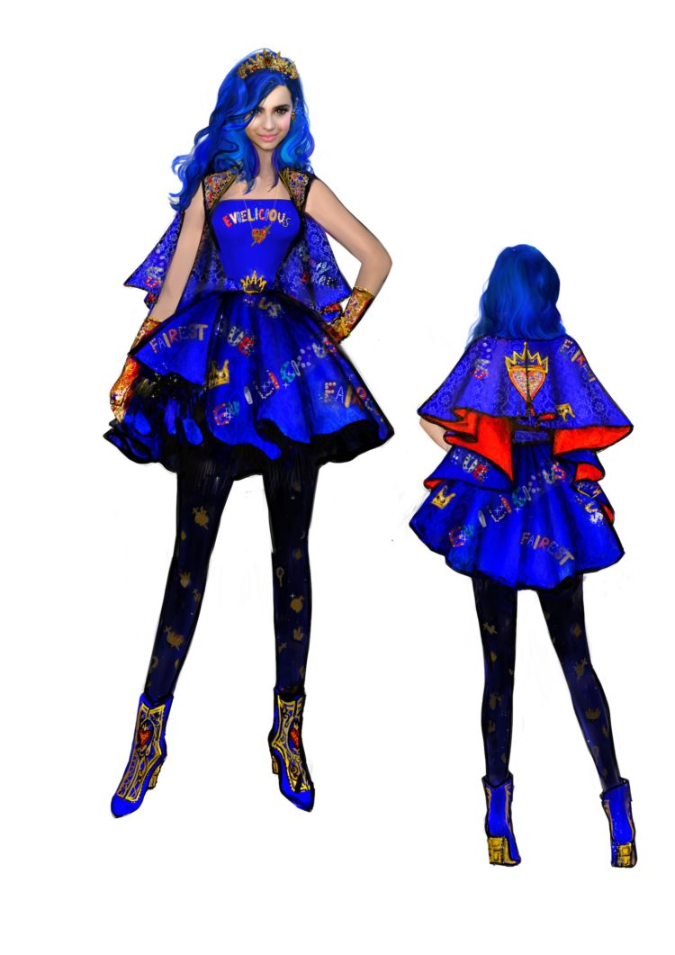 Disney Descendants 2 Evie Isle of the Lost look design