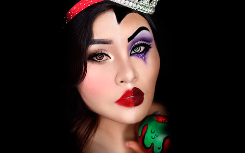 Two in one: Villains and Disney Princess makeup