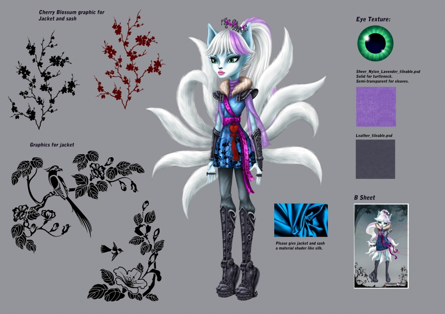 monster high  euna - nine-tailed fox concept
