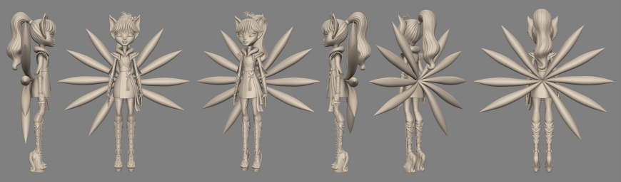 Monster High: Euna - nine-tailed fox concept