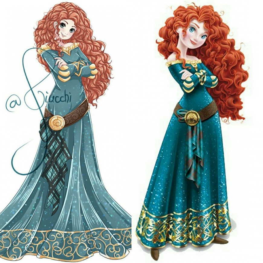 Merida Brave in anime style