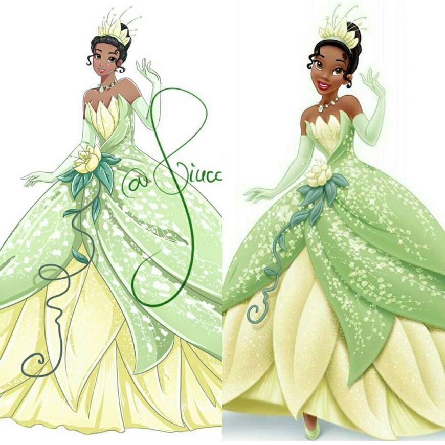 Tiana in anime style