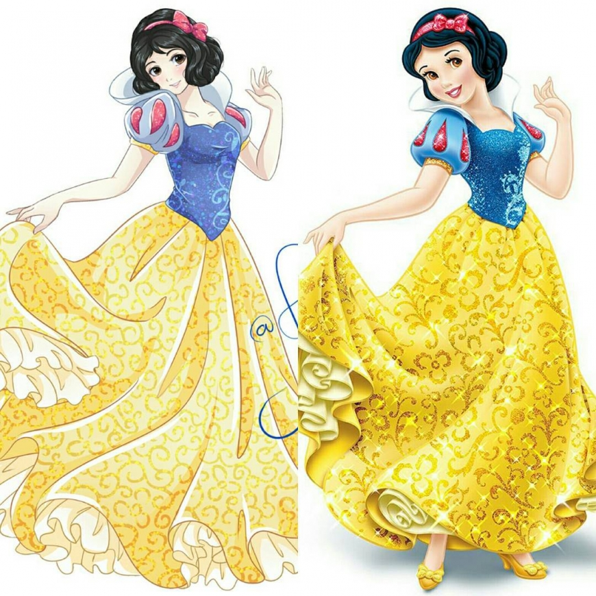 Snow White in anime style