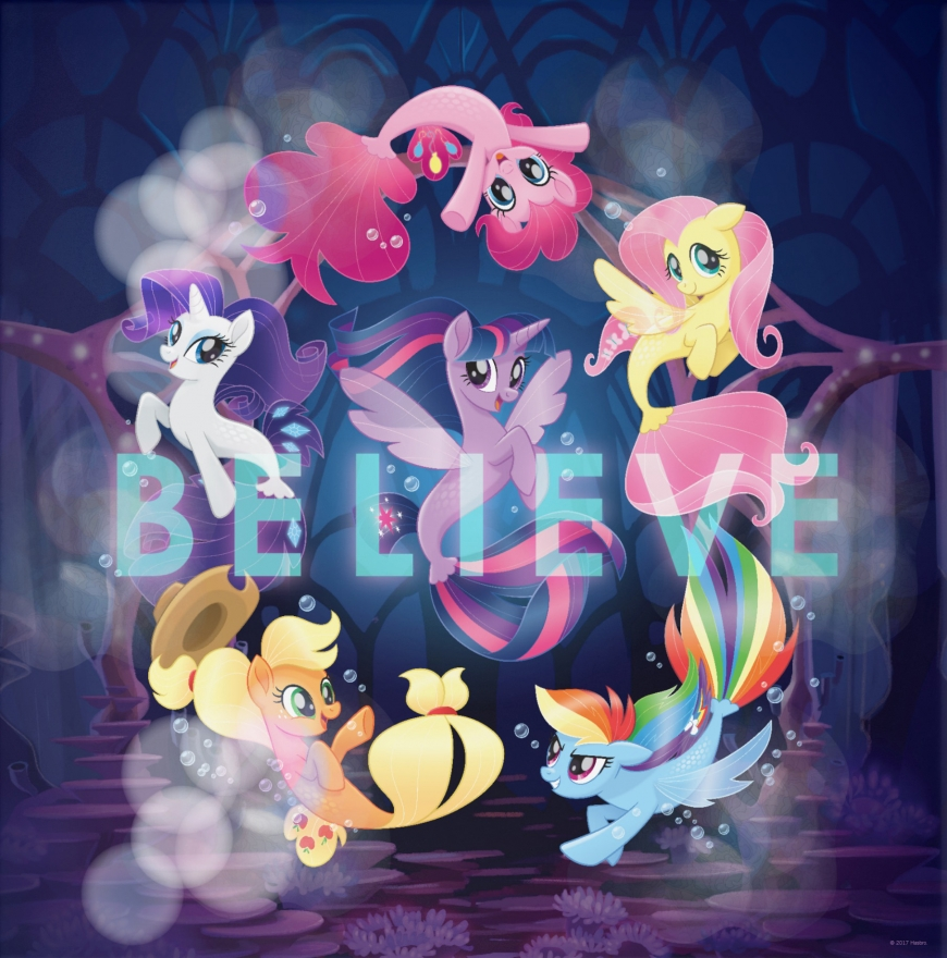 Main six as mermaids - seaponies in My Little Pony The Movie - My Little Pony The Movie