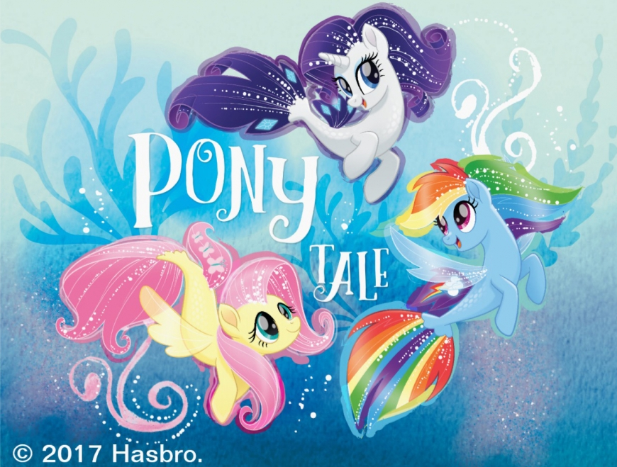 Seaponies Rarity, Fluttershy and Rainbow Dash